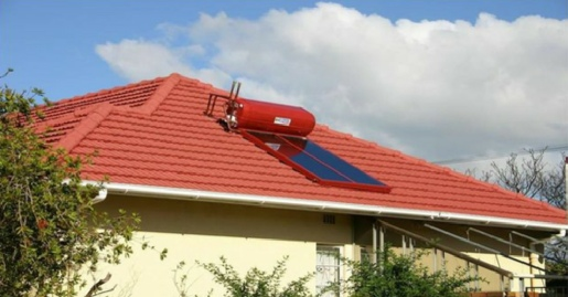 Red Solar Geyser used to match roof colour.